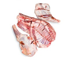Raw meat of young goat