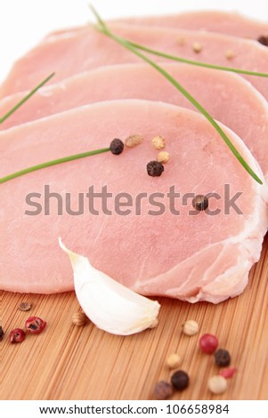 raw meat pork #106658984