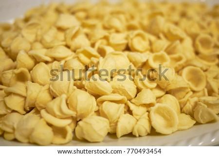 Raw Orecchiette pasta #770493454