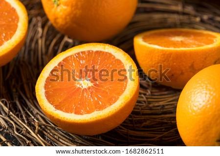 Raw Organic Cara Navel Oranges Ready to Eat Foto stock ©
