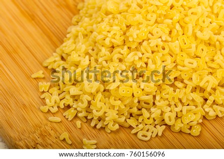 Raw pasta for kids ready for cooking #760156096