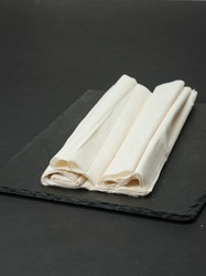Raw Phyllo Dough Sheets. Thin Filo Puff Pastry