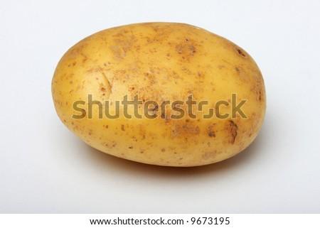 Raw potato shot in studio