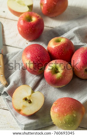 Raw Red Organic Pink Lady Apples Ready to Eat #760693345