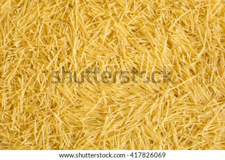 Shutterstock Raw vermicelli pasta background