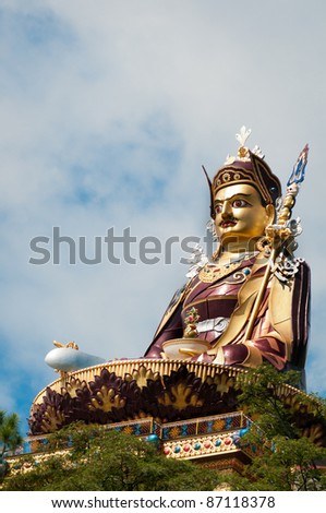 Rawalsar is a sacred place for Buddhists. 37.5 m statue of Padmasambhava, who is recognized as the second Buddha of this age, India