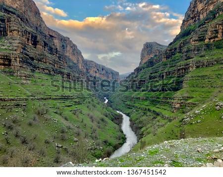 Rawanduz mountain area and the Hamilton road toward the town and Korek Mountain resort in Erbil the capital city of Kurdistan region of Iraq