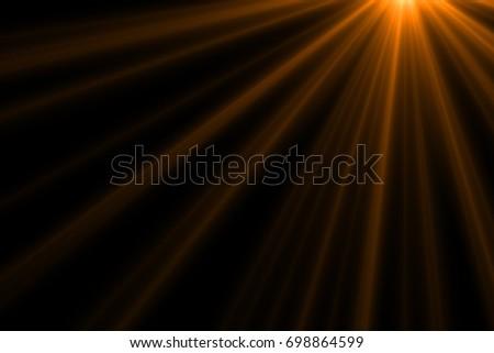 Ray light isolated on black background for overlay design or screen blending mode  - Shutterstock ID 698864599