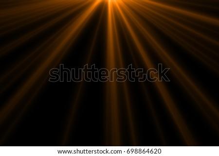 Ray light isolated on black background for overlay design or screen blending mode  - Shutterstock ID 698864620