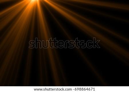 Ray light isolated on black background for overlay design or screen blending mode  - Shutterstock ID 698864671
