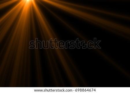 Ray light isolated on black background for overlay design or screen blending mode  - Shutterstock ID 698864674