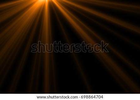 Ray light isolated on black background for overlay design or screen blending mode  - Shutterstock ID 698864704