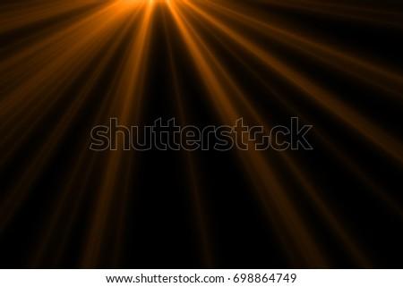 Ray light isolated on black background for overlay design or screen blending mode  - Shutterstock ID 698864749