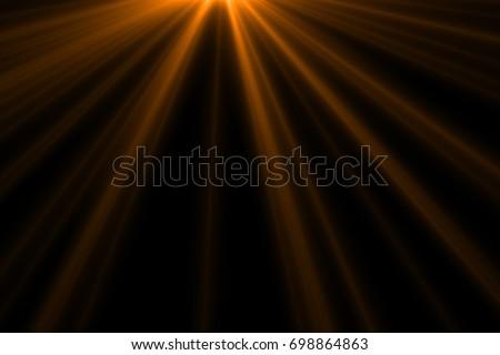 Ray light isolated on black background for overlay design or screen blending mode  - Shutterstock ID 698864863