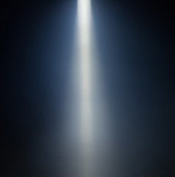 ray of light blue background