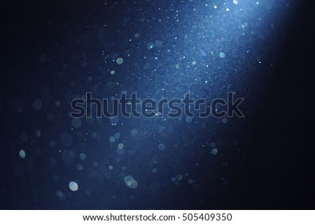 ray of light blue background with bekeh lights #505409350
