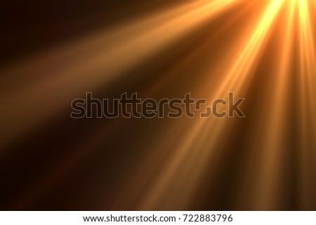 Ray of lights isolated on black background for overlay design or screen blending mode - Shutterstock ID 722883796