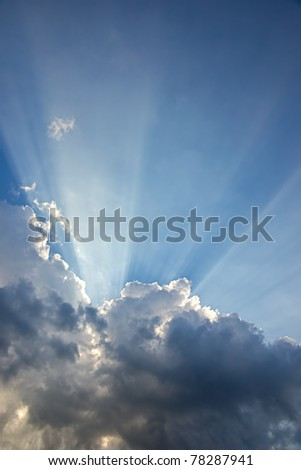 Ray of lights through the clouds