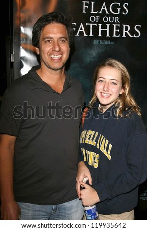 "Ray Romano and daughter Alexandra at the premiere of ""Flags of Our Fathers"". Academy of Motion Picture Arts and Sciences, Beverly Hills, CA. 10-09-06"