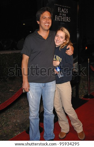 """RAY ROMANO & daughter at the Los Angeles premiere of """"Flags of our Fathers"""". October 9, 2006  Los Angeles, CA Picture: Paul Smith / Featureflash"""