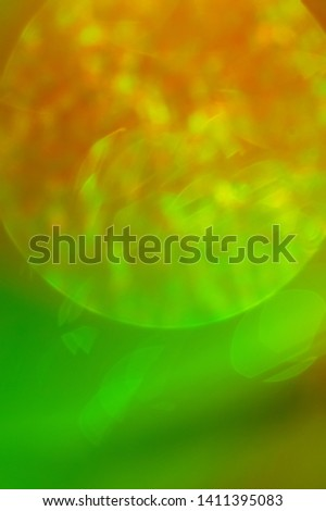 Rays of light green, beautiful abstract background.Space Natural forest effect background.The cosmic effect of the sun.