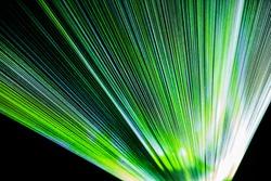 Rays of light installation