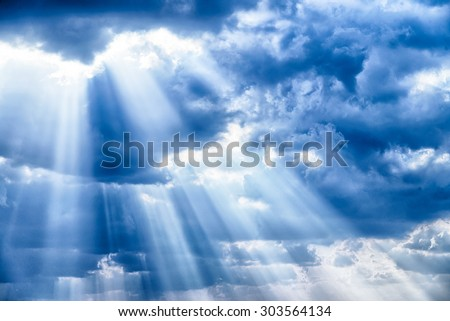 Rays of light shining down #303564134