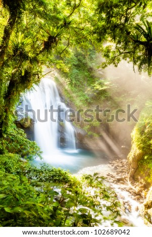 Rays over the waterfall