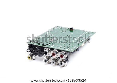 rca connectors for stereo audio and video