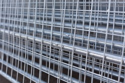 Re-bar Metal Grid. Abstract steel design.