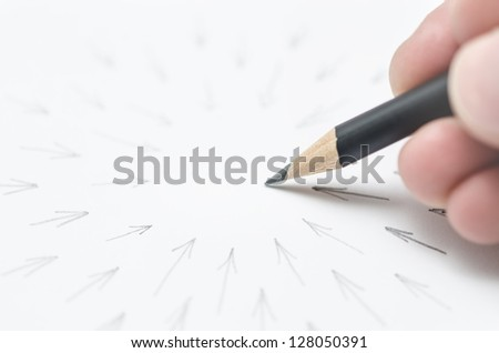 Reaching your goal concept - stock photo