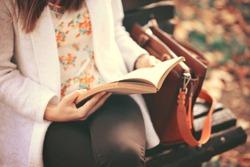 Reading a book concept