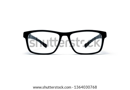 reading glasses and sun glasses on white background
