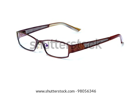 reading glasses isolated on white - stock photo