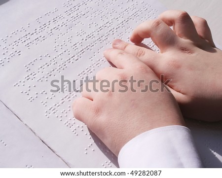Reading the book Braille