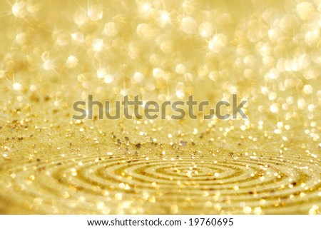 ready design with golden glitter sparkles background , super macro, shallow DOF