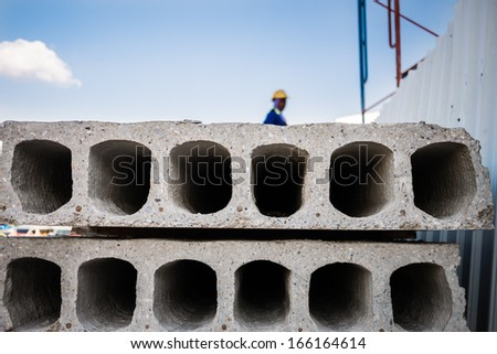 Ready-made cement wall for construction