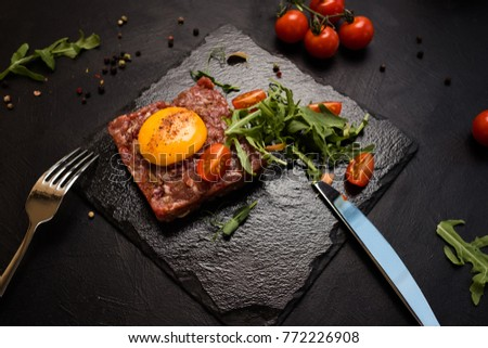 ready made raw diet restaurant meal concept. proper nutrition. cuisine creativity. extravagant delicacy. #772226908