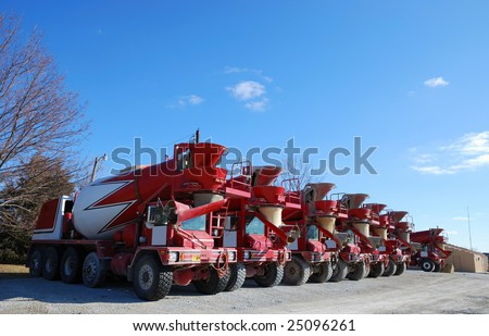 ready mix concrete trucks
