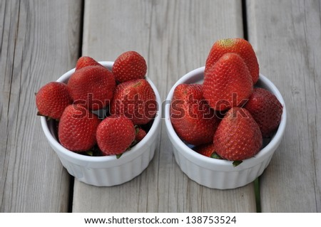 Ready to eat strawberries