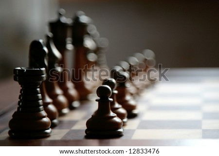 ready to play chess board