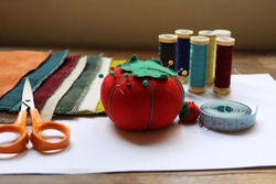 Ready to sew ! Have the right material for handmade sewing