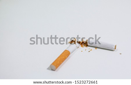 Real cigarettes that affect health