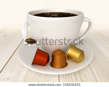Real coffee capsules