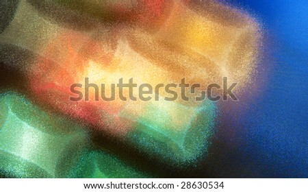 Real color flares through glass screen