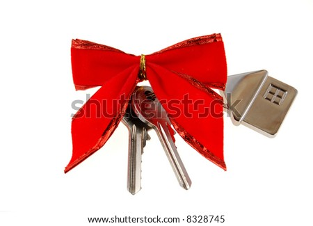 Real estate concept. Gift house. - stock photo