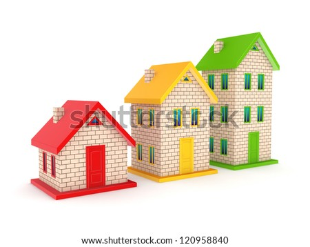 Real estate concept.Isolated on white background.3d rendered.