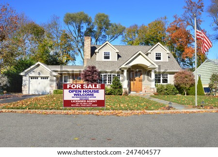 Real estate for sale open house welcome sign beautiful for Cape style homes for sale