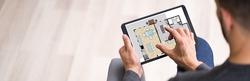 Real Estate Home Property Online Assessor Using Tablet