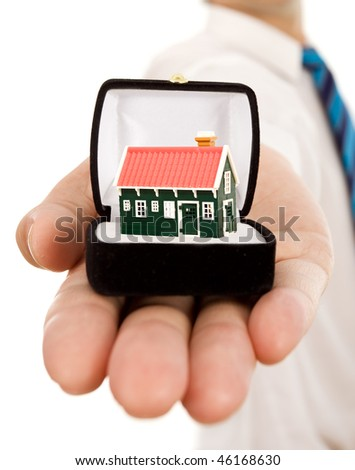 Real estate offer concept - isolated